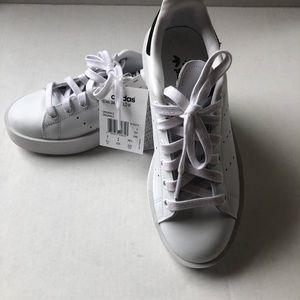 New adidas Stan Smith bold white sneaker 5.5